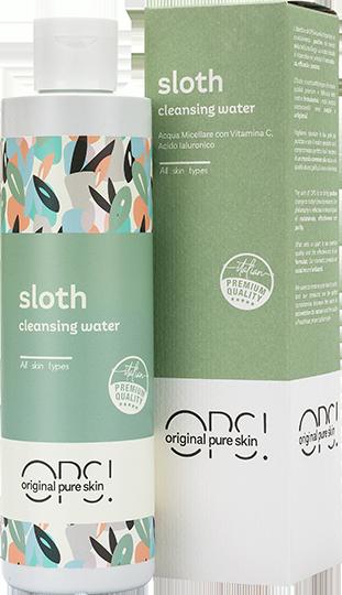 Sloth acqua micellare idratante con vitamina C con astuccio